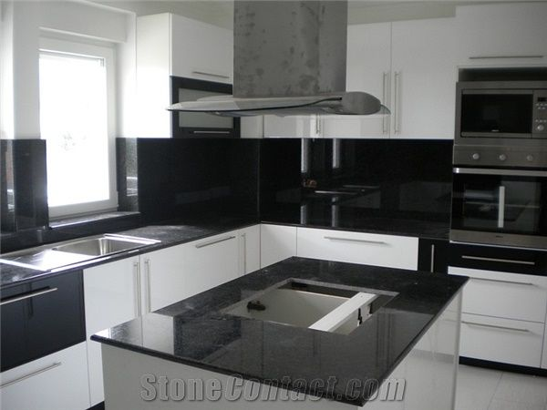 Absolute Black Granite Countertop From Macedonia 209178