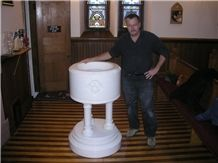 Church Marble Baptismal Repair