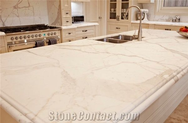Calacatta Oro Marble Kitchen Countertops White