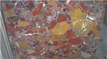 Conglomerate, Iran Red Marble Slabs & Tiles