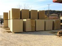Felsite Stone Armenian Gold Blocks, Gold Felsite Yellow Beige Blocks