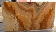 Onice Cappuccino Tiles & Slabs, Dark Honey Onyx Iran Tiles & Slabs