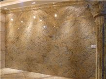 Giallo Crystal Granite Slabs & Tiles, Brazil Yellow Granite