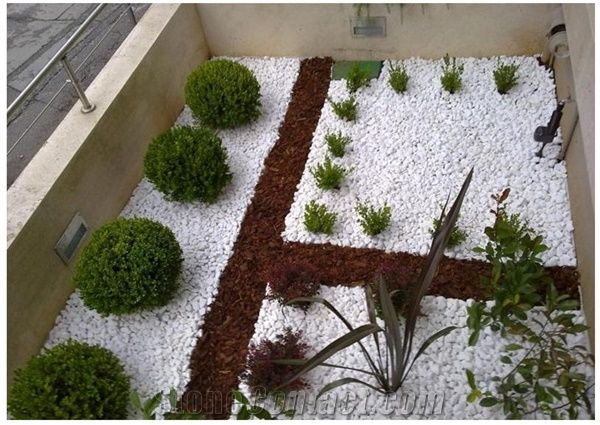 White Pebbles Landscaping Stones White Marble Pebbles