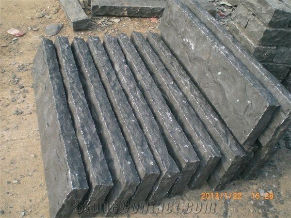 g685 basalt split face palisade g685 black basalt palisade from china. Black Bedroom Furniture Sets. Home Design Ideas