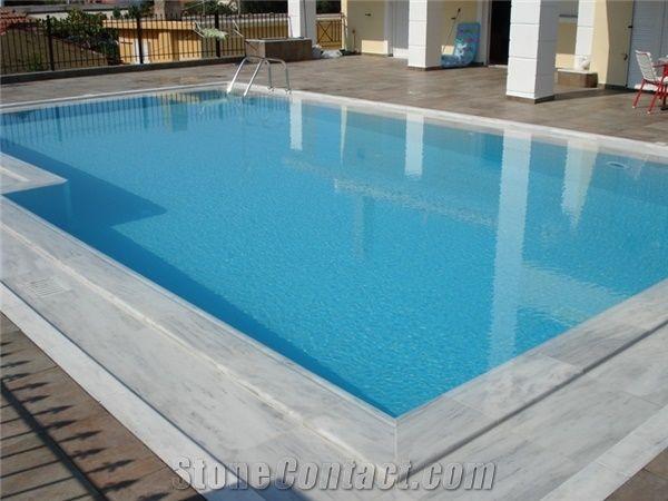 Pool Deck Drain Pool Coping Thassos White Marble Pool