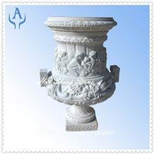 Granite Grey Flower Pot, Grey Granite