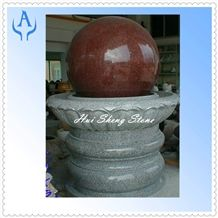 Granite India Red Fountain Stone Ball, Granite