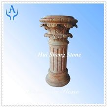 Pink Marble Column