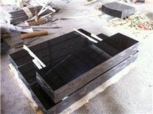 Shanxi Black Slant Grave Marker, Black Basalt Grave Marker