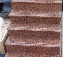China Natural Polished G562 Granite Stair(low Pric