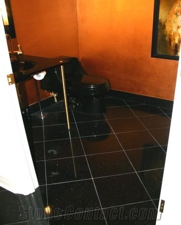 Polished Black Galaxy Granite Tile(Good Price)Black Galaxy