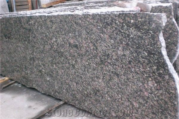 Polished Peacock Green Granite Slablow Price From China
