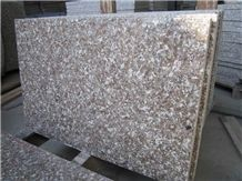 Zhangpu Red Chinese Pink Granite Slab Tiles Slabs Natural Building Stone Flooring Wall Decoration Cladding, Counter Tops Window Sills with Best Price and High Quality Applicable to Indoor and Outdoor