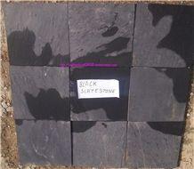 Jet Black Slate Stone, Jakarta Black Slate Stone,