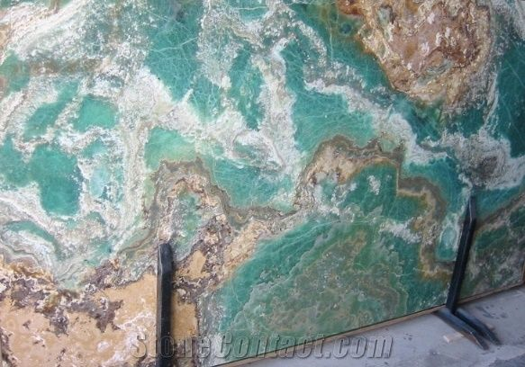 Turquoise Blue Onyx Slab From Iran 218726 Stonecontact Com