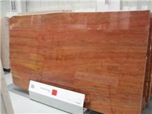 Travertino Rosso Travertine Slabs, Iran Red Travertine