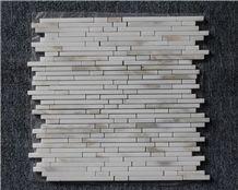 Eastern White Marble Mosaic Linear Strips Mosaic