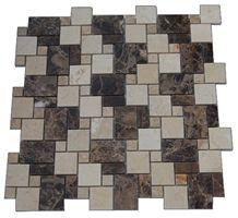 Dark Emperdor Brown Marble Mosaic