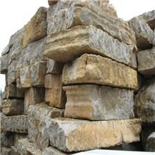 Yangtze River Limestone Blocks, China Brown Limestone
