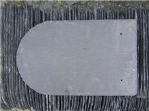 U Shape Black Slates Roof Tiles