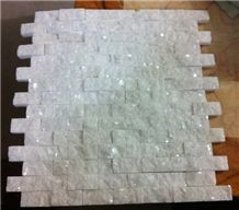 Crystal White Marble Mosaic Tile
