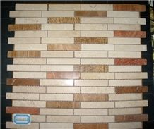 Marble Strip Mosaic Tile
