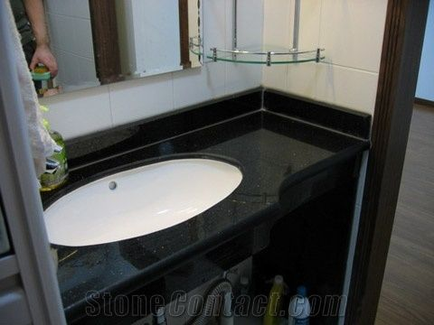 Black Galaxy Bathroom Vanity Tops Galaxy Black Granite