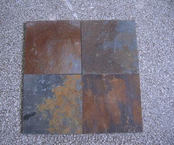Multicolor Slate Tile Slate Floor Tiles Rusty Stone Tile