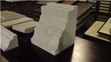 White Coral Stone Wall Molding, Dominican White Coral Stone Brackets