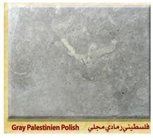 Palestinian Gray Limestone Honed, Polished