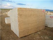 Yozgat Yellow Travertine Blocks