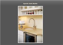 Spanish Gold Marble Countertop, Spanish Gold Yellow Marble Countertop