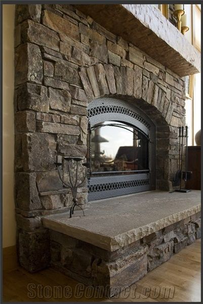 Chief Joseph Stone Fireplace Surround Brown Sandstone