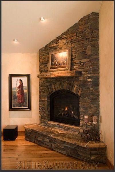 dakota stone fireplace  brown granite fireplace from