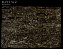 Black Forest Granite Slabs, India Black Granite