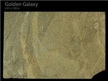 Golden Galaxy Granite Slabs, Brazil Yellow Granite