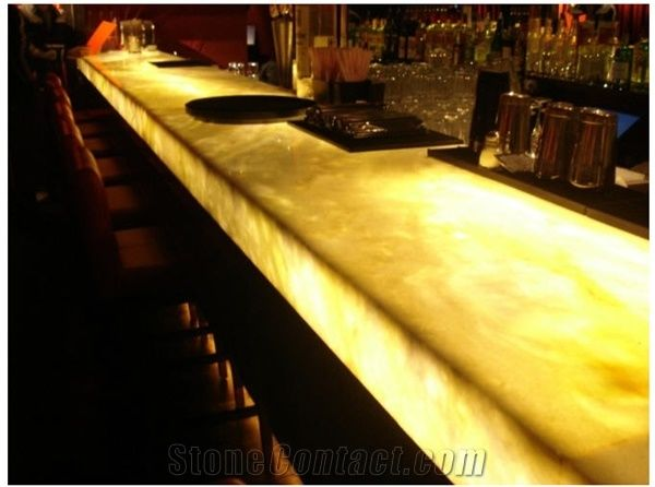Translucent Onyx Bar Top Yellow Onyx Bar Top From