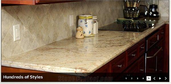 Golden Granite Kitchen Countertop Sivakasi Gold Yellow