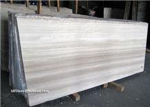White Wooden Marble Slabs, White Wood Grain Marble, White Wood Vein Marble Slabs