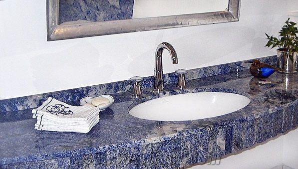 Azul Bahia Granite Bathroom Vanity Top Bathroom Vanity Top