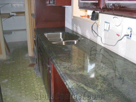 Green Jade Kerala Granite Kitchen