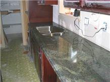 Green Jade,Kerala Green Granite Kitchen Counter Top