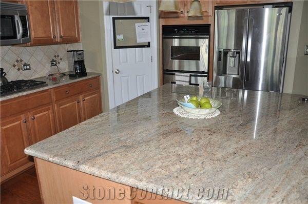 Ivory Chiffon Granite Kitchen Countertop Beige Granite