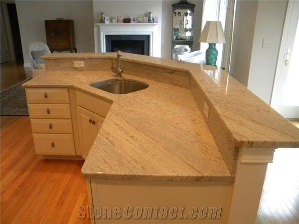 Ivory Fantasy Yellow Granite Countertop