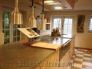 Kitchen Worktop In Pietra Verde Green Limestone Worktops