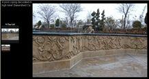 Sienna Beige Pool Wall Relief, Beige Limestone Wall Relief