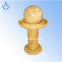 Golden Yellow Fountain Ball, Yellow Onyx