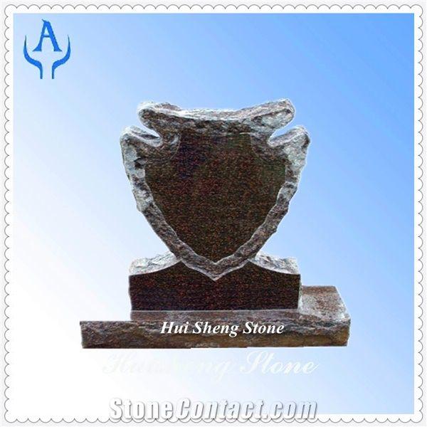 Granite Grey Arrowhead Tombstone Grey Granite From China
