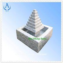 Granite White Western Fountain, White Granite
